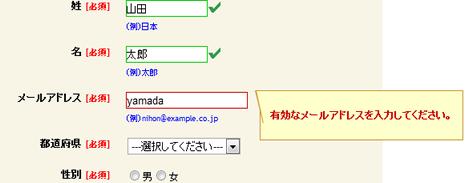 登録フォーム(EFO)